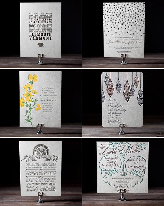 letterpress wedding invitations Bella Figura Letterpress Stationery