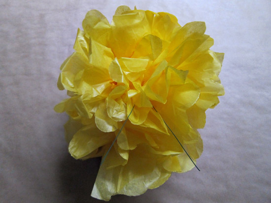paper pompom tutorial017 Tissue Paper Pom Pom Tutorial