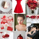 red and grey wedding inspiration