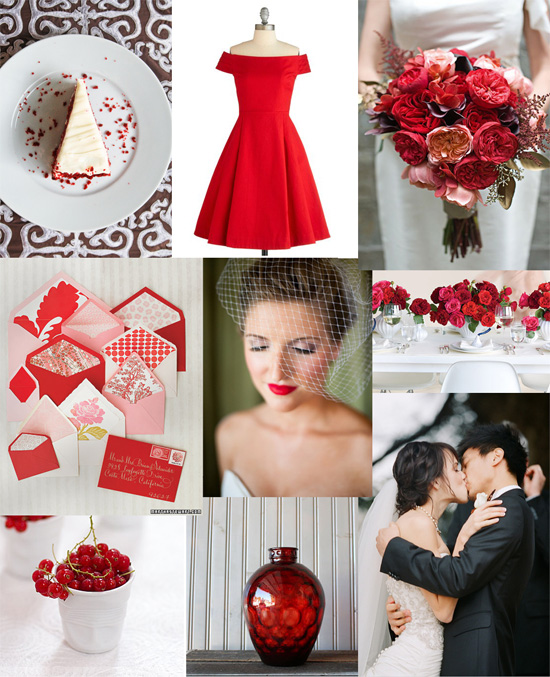red and grey wedding inspiration Red And Grey Nuptials