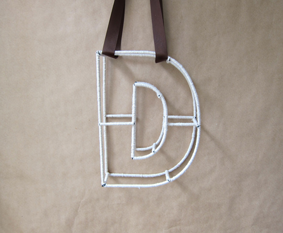 string letter tutorial String Monogram Letter Tutorial