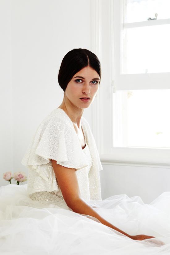 "Bridal cape Kristi Bonnici ""Sometimes A Whisper Is Enough"" Bridal Accessories Collection"