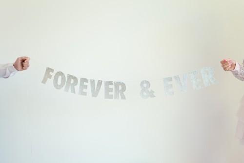 Glitter garland wedding 2 500x333 Forever & Ever Glitter Garland Tutorial