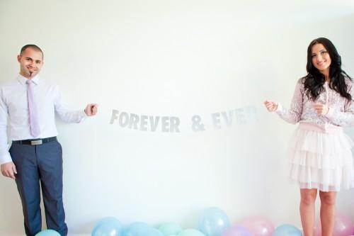 Glitter garland wedding 500x333 Forever & Ever Glitter Garland Tutorial