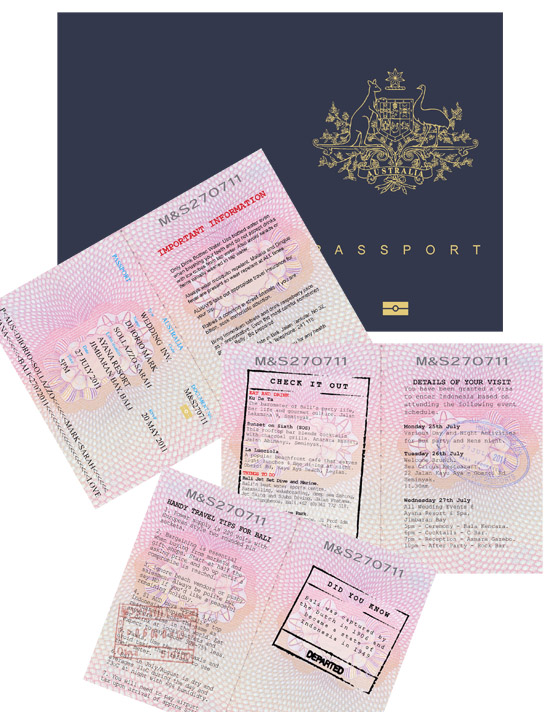 Passport Wedding Invitation Destination Wedding Invitations