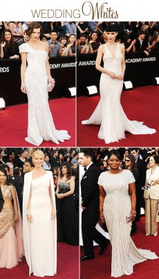 white oscar gowns 2012