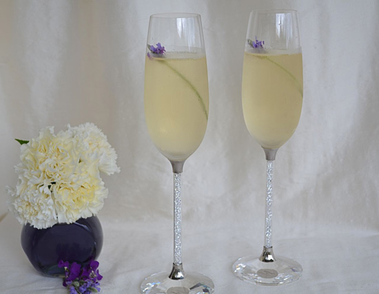 Lavender Cocktail Friday Champagne Garnishes