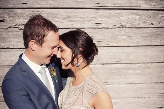 bride and groom in tasmania