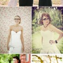 brides wearing glasses