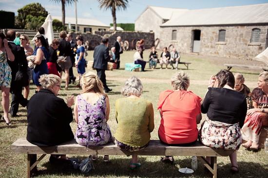 guests at tasmanian wedding