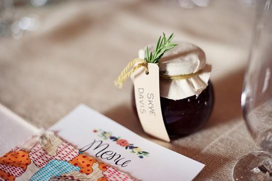 handmade wedding setting