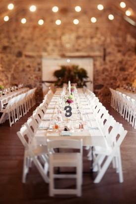 long table at wedding