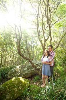 Vi Thang and Yuki Chen engagement session at Manly