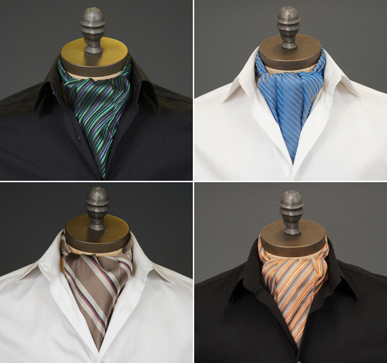 striped ascots Ceravelo Ascot Ties