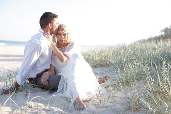 Vintage Beach Wedding Inspiration Polka Dot Bride