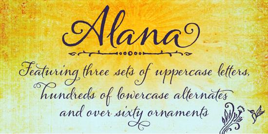 Alana Font Tuesday Type Alana