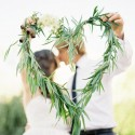 Couple with gum leaf wreath