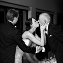 bride kissing father