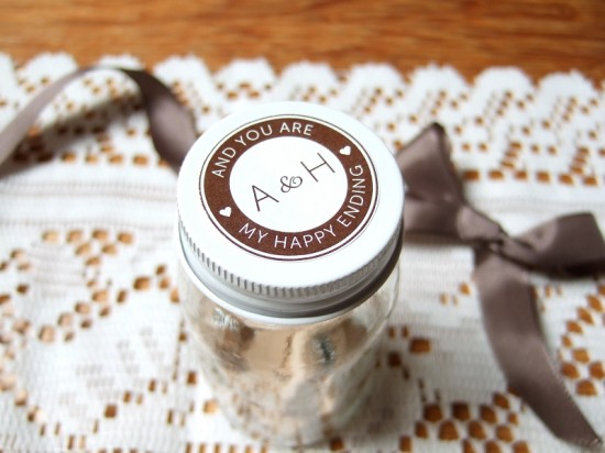 jar chocolate2 550x412 DIY Wedding Envelope Seals