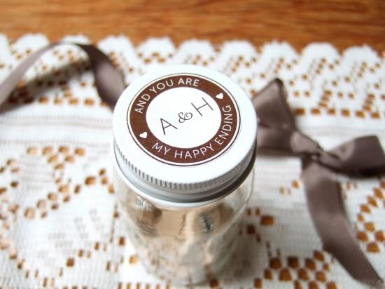 Chocolate jar label
