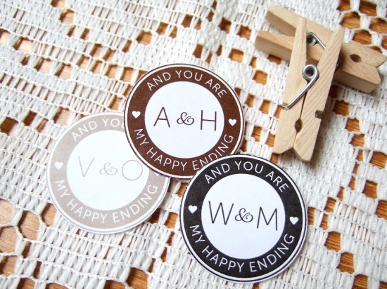 Postmark Wedding Envelope Seals