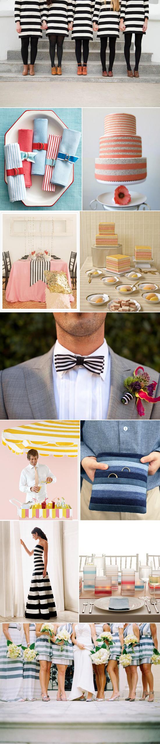 stripe wedding inspiration Wedding Day Stripes