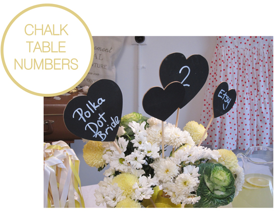 CHALK TABLE NUMBERS DIY Wedding Projects