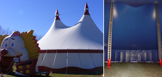 circus tent wedding hire A Circus Style Wedding