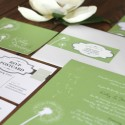 dandelion wedding invitations