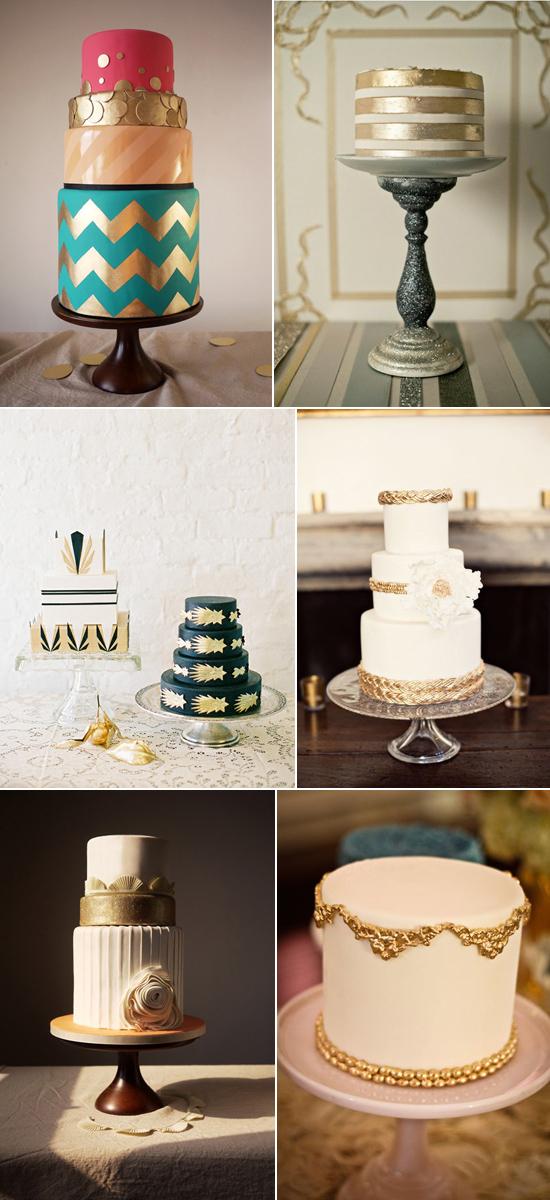 gold wedding cake detailing1 Beautiful Gold Wedding Cakes