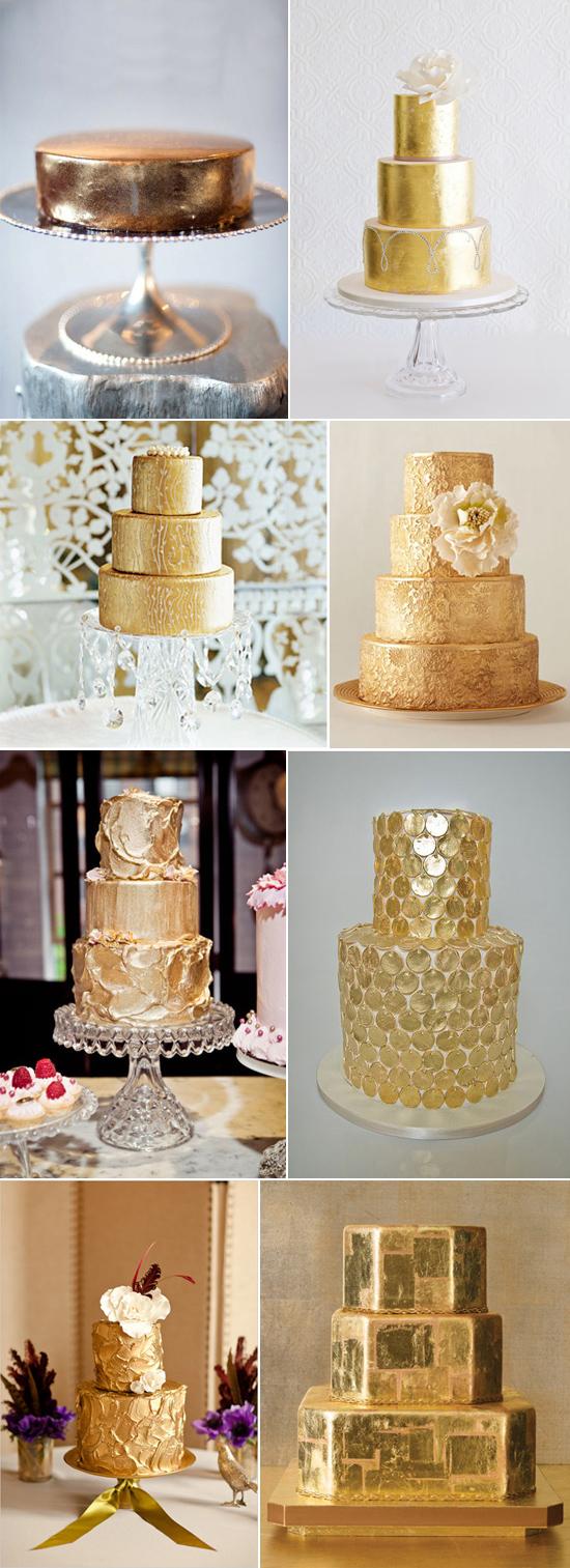 gold wedding cakes Beautiful Gold Wedding Cakes