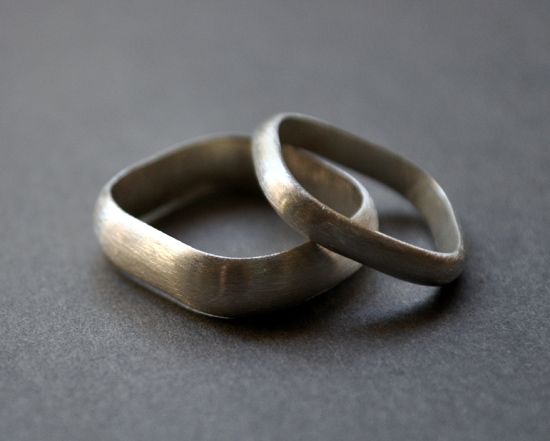 handmade silver wedding rings Handmade Wedding Rings From Epheriell