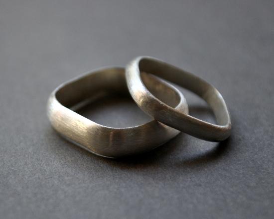 handmade silver wedding rings Handmade Wedding Rings From Epheriell
