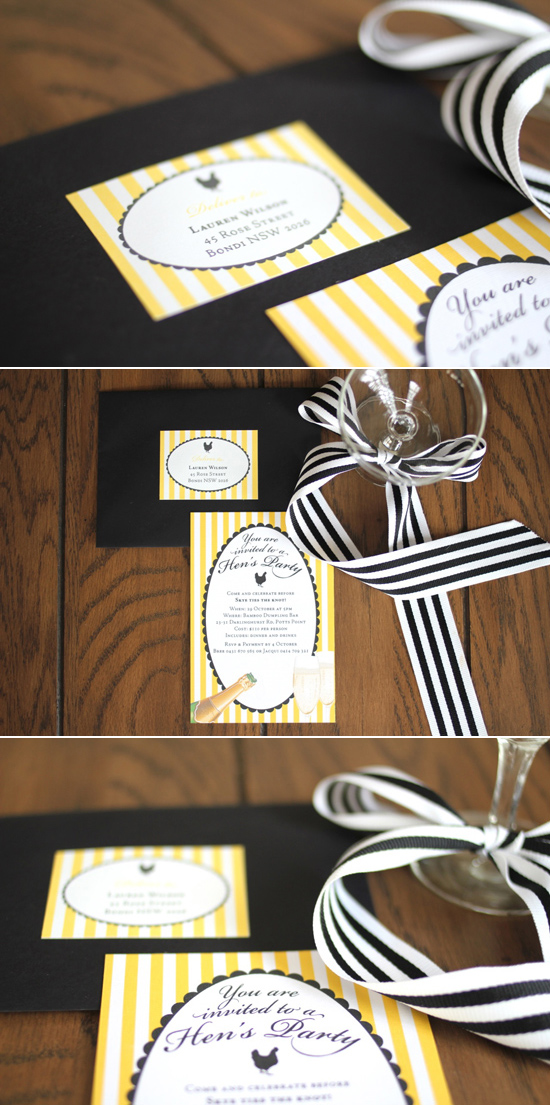 hens party invitations Whimsical Wedding Invitations By Starry Night Design