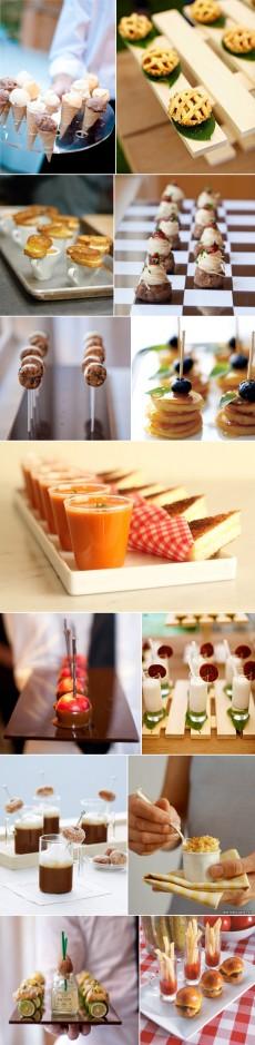mini wedding food