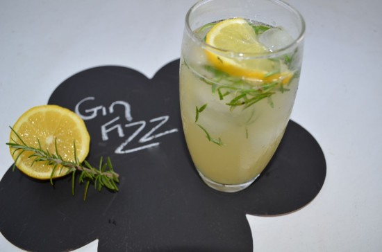 GinFizz 550x364 Cocktail Friday Rosemary Gin Fizz