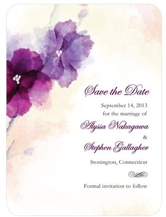 Signature White Textured Save the Date Cards Soft Bougainvillea by Wedding Paper Divas Friday Roundup