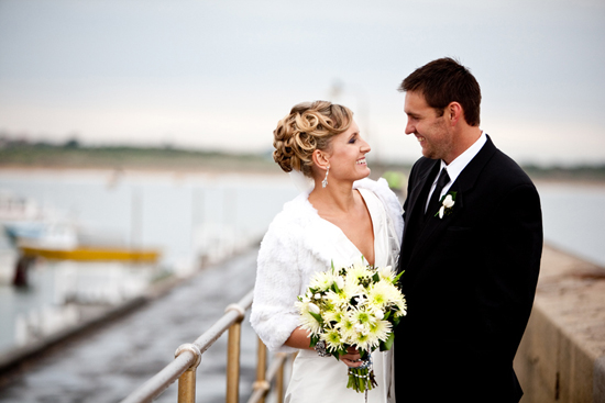 bride wearing cardigan Winter Wedding Warmth With Cardigans