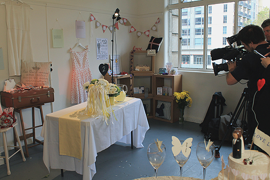 filming for polka dot bride DIY Wedding Projects