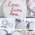 DIY Embroidered Decoration