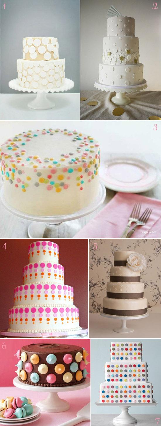 polka dot wedding cakes copy How To Have a Polka Dot Wedding 2012 Edition