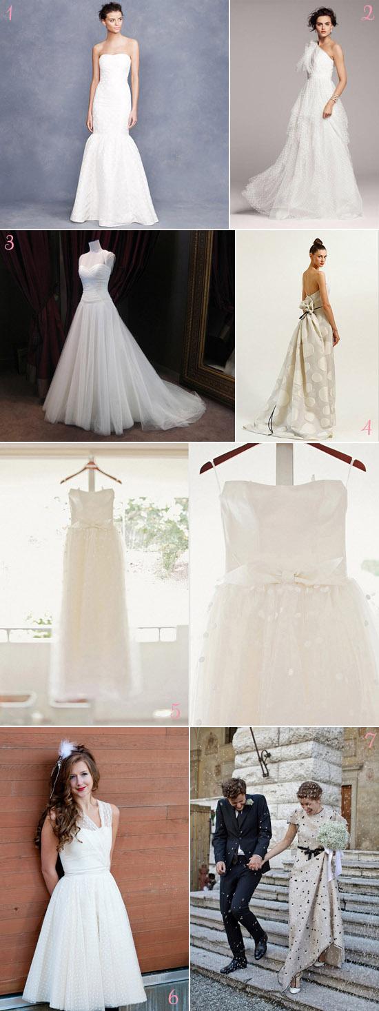 polka dot wedding dresses How To Have a Polka Dot Wedding 2012 Edition