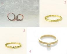 polka dot wedding rings