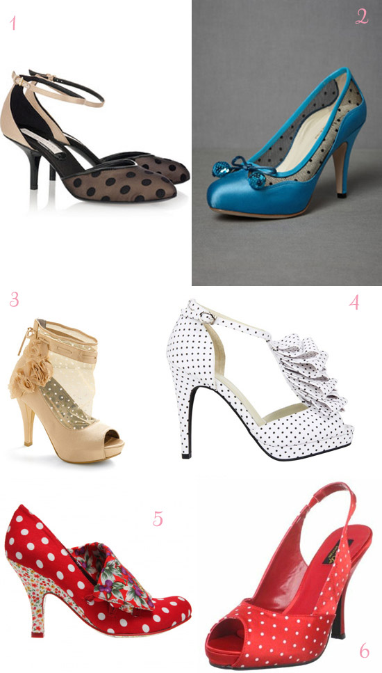 polka dot wedding shoes1 How To Have a Polka Dot Wedding 2012 Edition