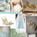 Pale Blue and Gold Wedding Ideas