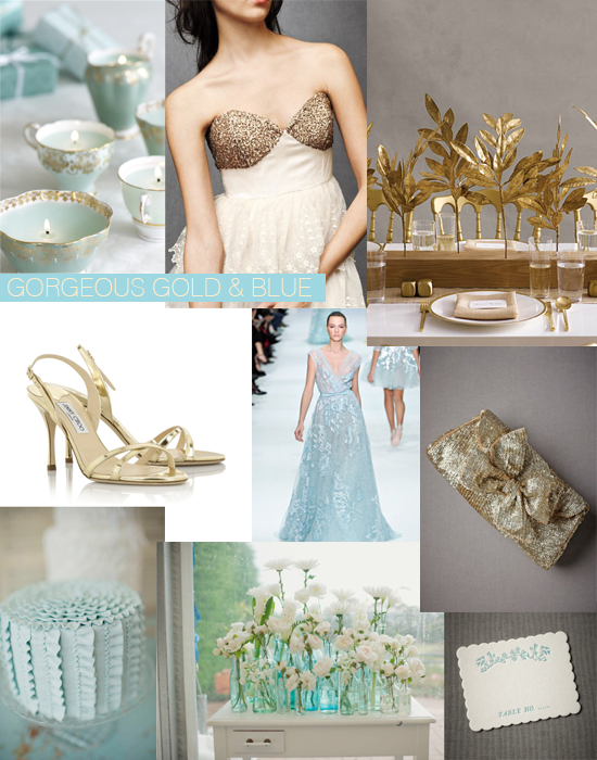Pale Blue and Gold Wedding Ideas Shoe Crush Sunday Gold And Pale Blue