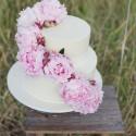 Peony Rose Wedding Cake