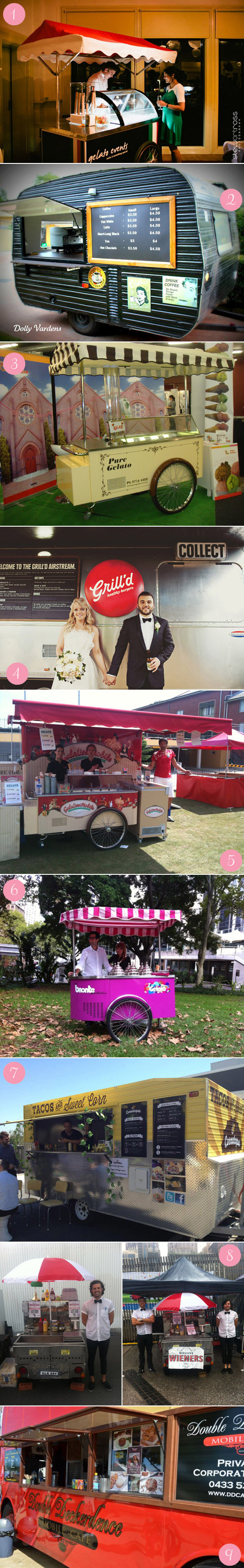 australian food carts for wedding hire1 Carting it Around Delicious Wedding Food Carts & Trucks