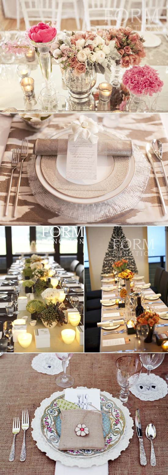brown and taupe table linen inspiration Coloured Table Linen Inspiration