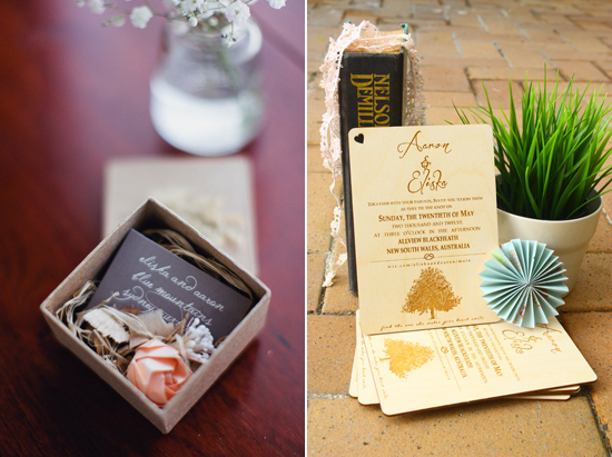 invites1 A Rustic Chic Blue Mountains Wedding